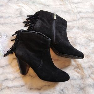 Jessica Simpson suede fringed booties